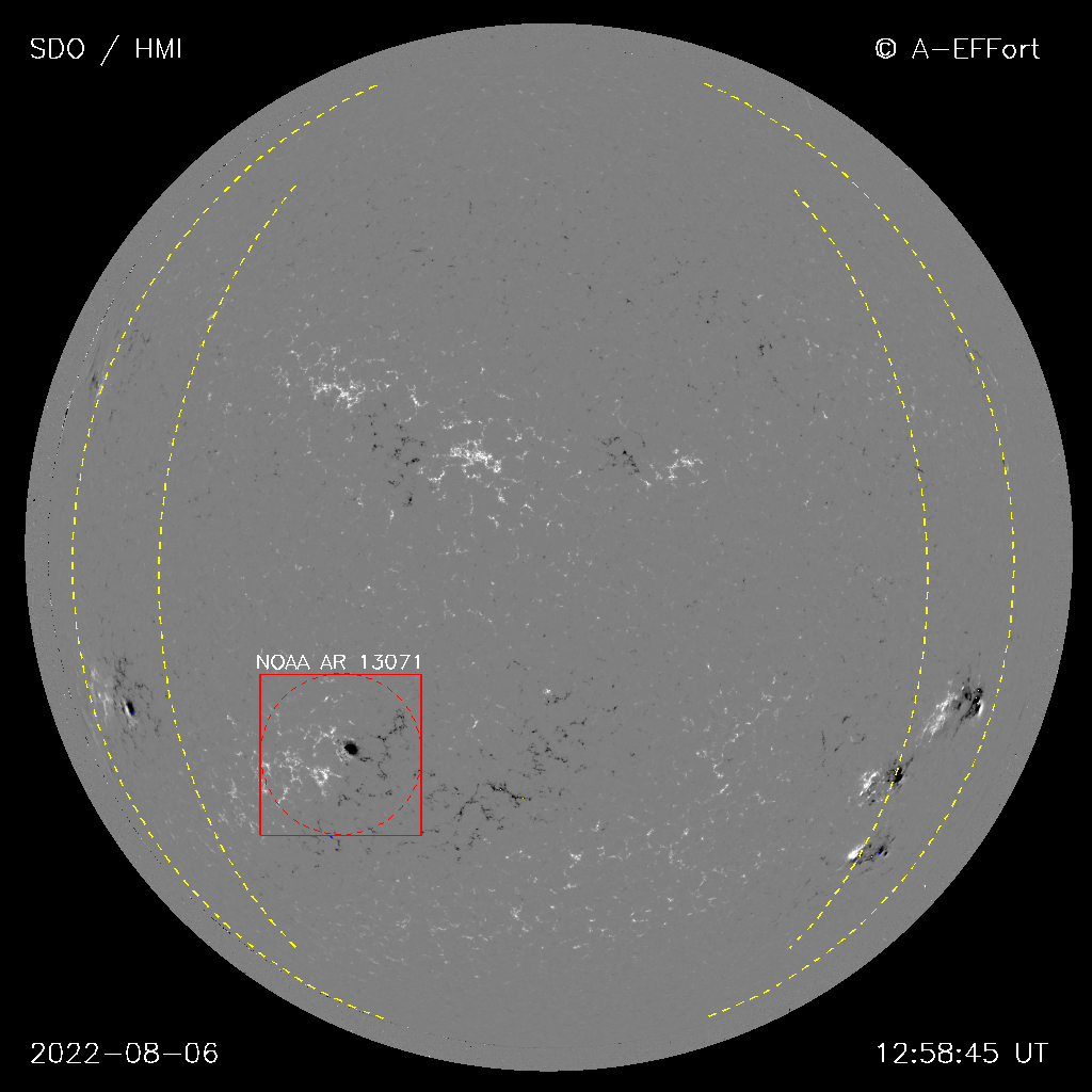 Latest processed SDO/HMI full-disk magnetogram